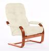 Кресло «Онега 2», ткань слоновая кость, каркас вишня, GREENTREE