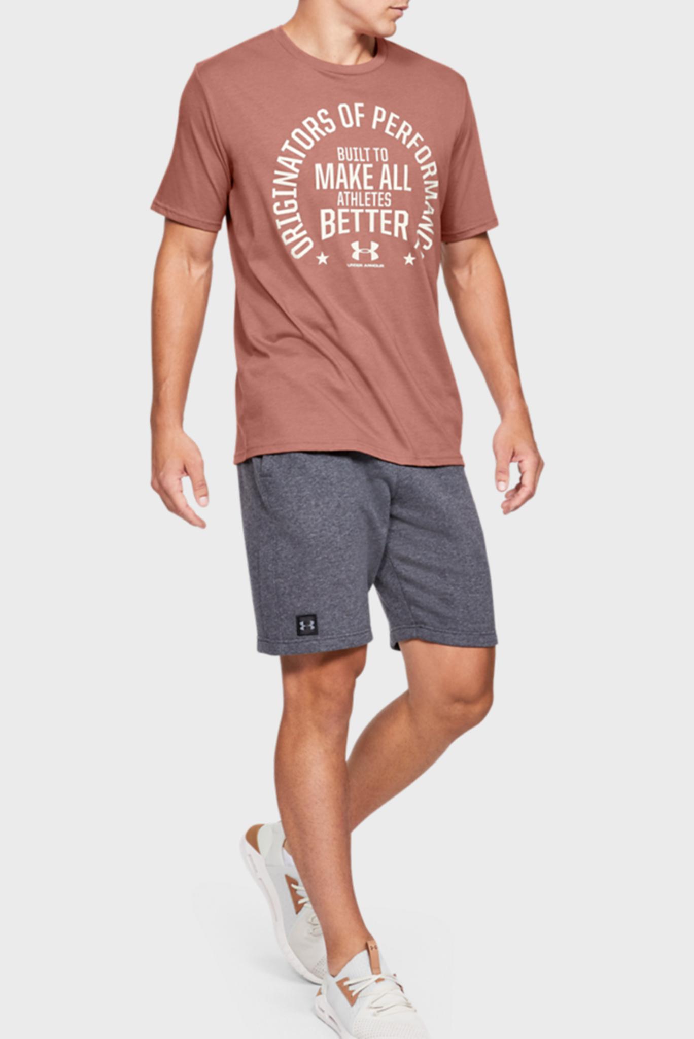 Мужская коричневая футболка UA PERF. ORIGIN MISSION SS-BRN Under Armour