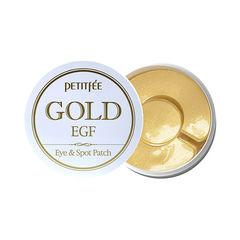 Гидрогелевые патчи для век Petitfee Gold&EGF Spot Patch с золотыми частицами и фактором роста