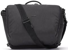 Сумка через плечо Pacsafe Intasafe X Laptop Messenger, серый, 18 л.