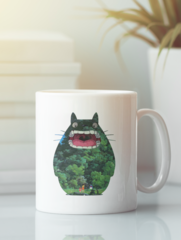 Кружка с рисунком из мультфильма Мой сосед Тоторо (Totoro) белая 008