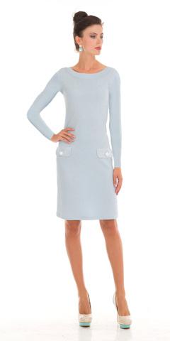 Фото облегающее платье-футляр с вырезом лодочка из вискозы - Платье З790-449 (1)