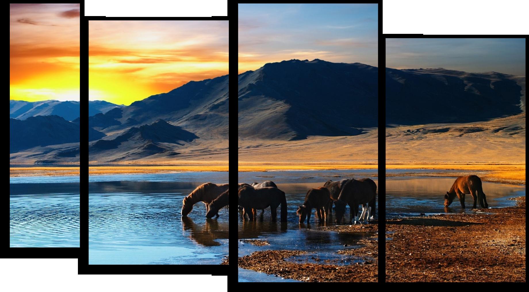 """Природа Модульная картина """"Красочный закат"""" М430.png"""