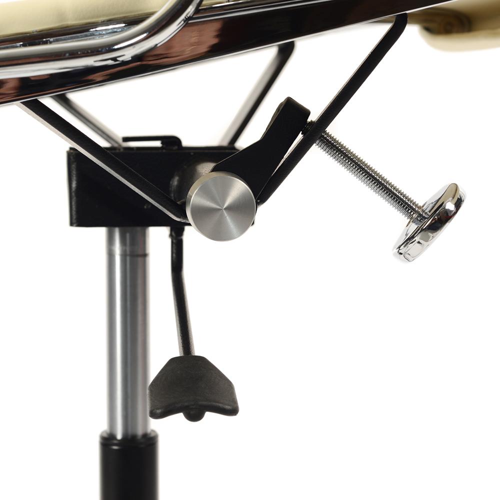 Кресло Eames Style HB Ribbed Office Chair EA 119 кремовая кожа - вид 7
