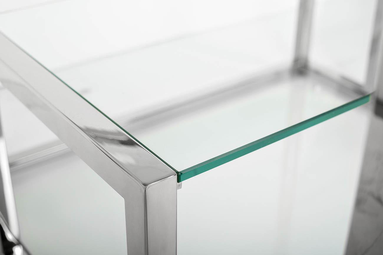 GY-SH8005 Стеллаж стекло прозр./хром 140*38*180см