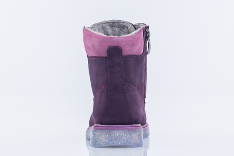 Ботинки фиолетовые  школьные