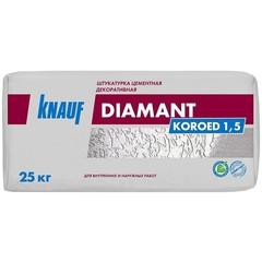 Цементная штукатурка декоративная Knauf Диамант Короед 1.5, 25 кг