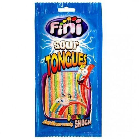 Жевательный мармелад Fini Sour Tongues кислые разноцветные 90 гр