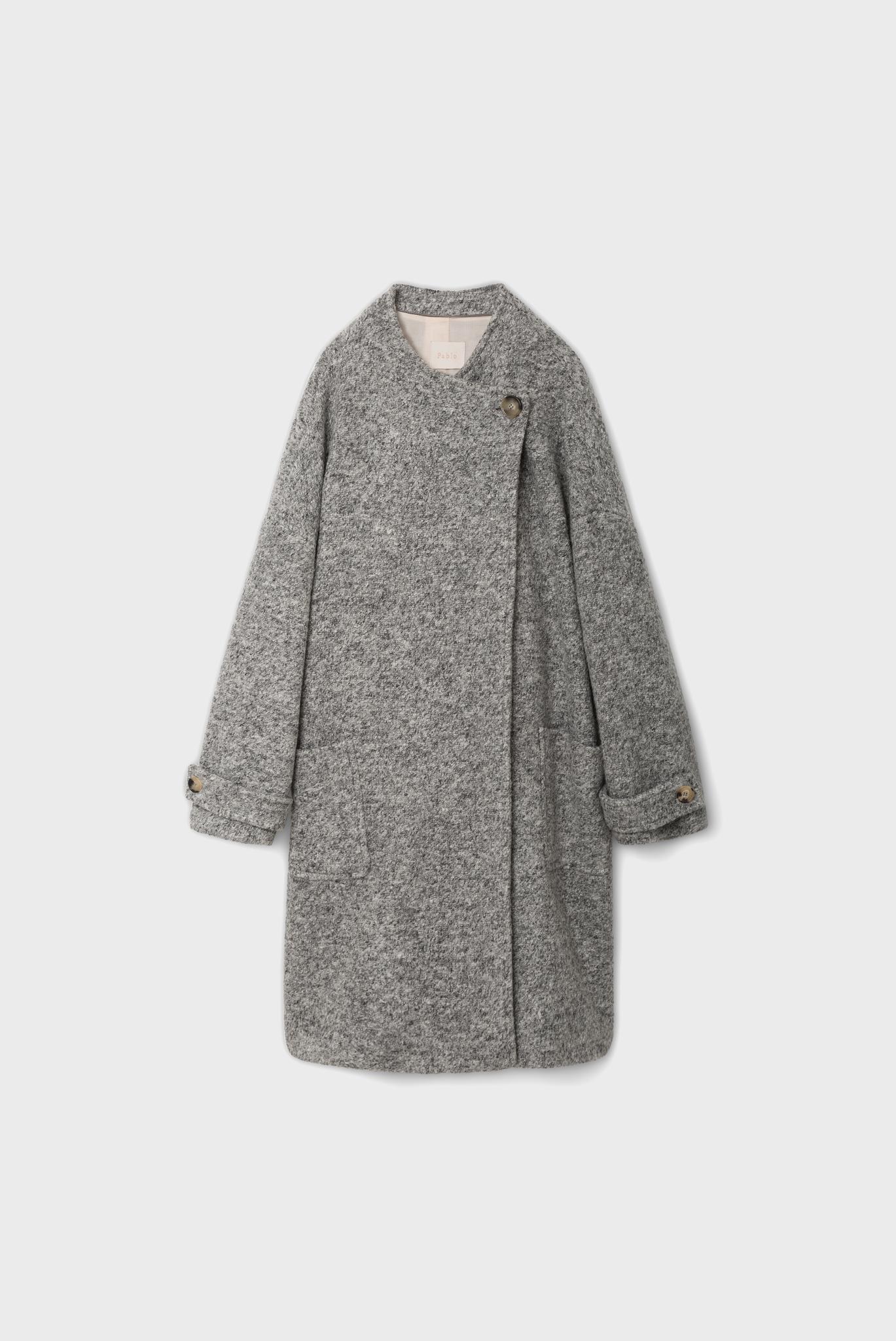MARYSE - Шерстяное пальто с асимметричной застежкой