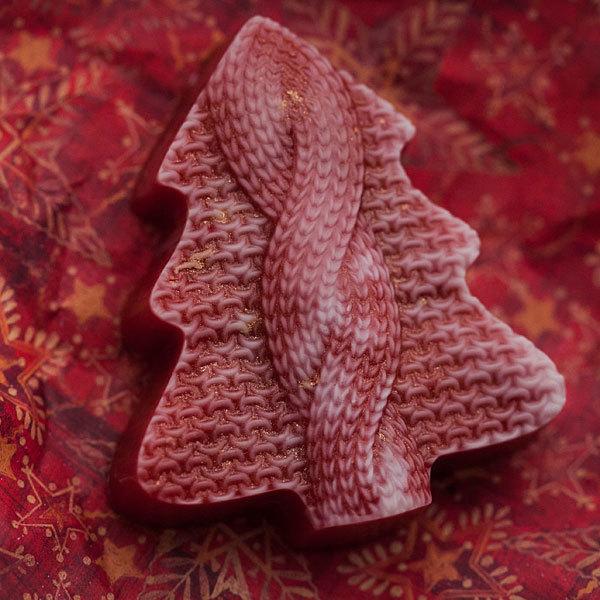 Форма пластиковая для мыловарения Елка вязаная