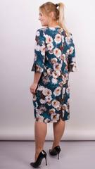 Олівія. Принтована сукня плюс сайз. Смарагд.