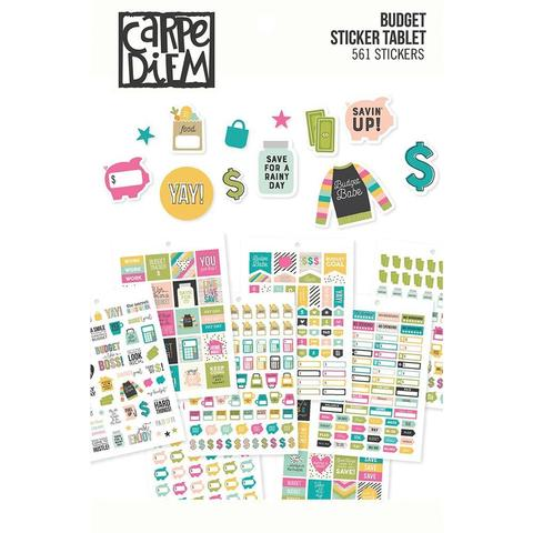 Стикербук - Carpe Diem A5 Planner Sticker Tablet- Budget -561 шт