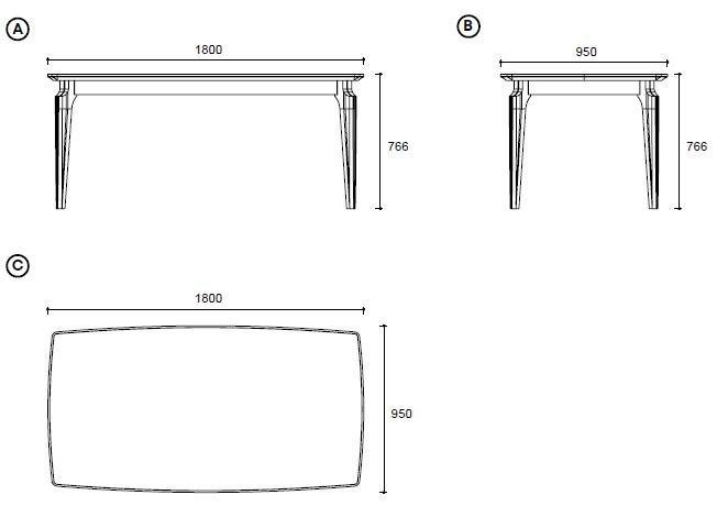 Обеденный стол ELEGANTE (Иммитация под мрамор Стеклянная поверхность)