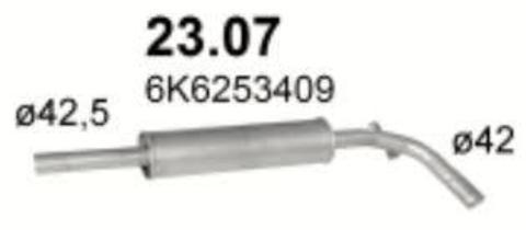 глушитель Seat Codroba/Ibiza 1.0i; 1.3i; 1.4i;1.6i; 1.9D 93-02/ VW Polo 1.4i 95-01