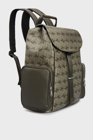 Мужской оливковый рюкзак ELEVATED MONOGRAM FLAP BACKPACK Tommy Hilfiger