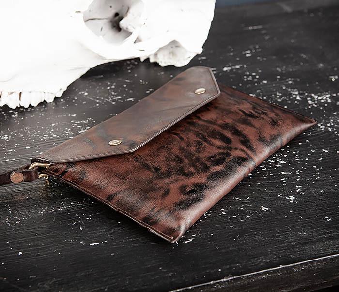 WL332-3 Вместительный клатч из кожи оригинального цвета фото 03