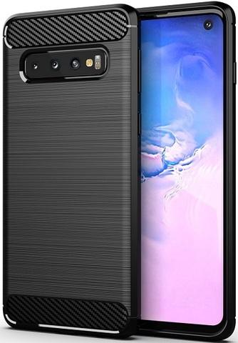 Чехол для Samsung Galaxy S 10 цвет Black (черный), серия Carbon от Caseport