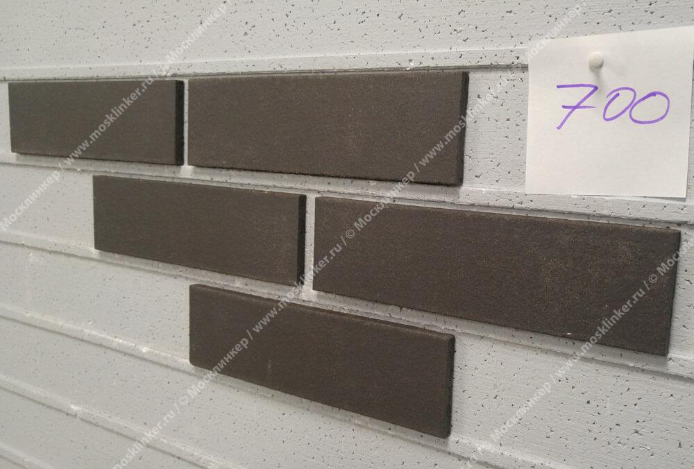 Feldhaus Klinker - R700NF9, Classic Anthracit Liso, 240x9x71 - Клинкерная плитка для фасада и внутренней отделки