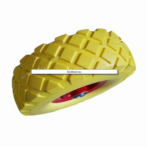 Колесо бескамерное 3,50-4(16) желтое,зеленое