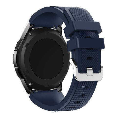 Силиконовый ремешок для Samsung Gear S3/Galaxy Watch 46 Fohuas Silicon Band 22мм (темно-синий)
