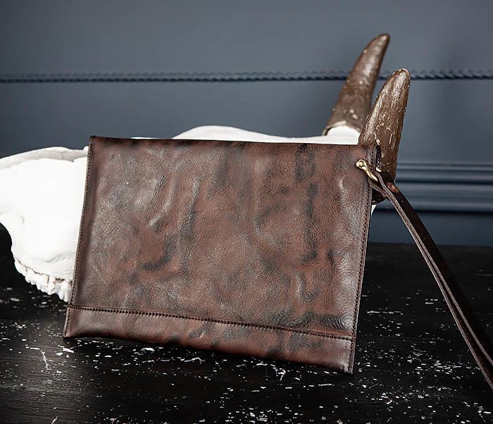 WL332-3 Вместительный клатч из кожи оригинального цвета фото 04