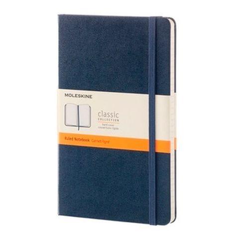Блокнот Moleskine CLASSIC QP060B20 Large 130х210мм 240стр. линейка твердая обложка синий сапфир