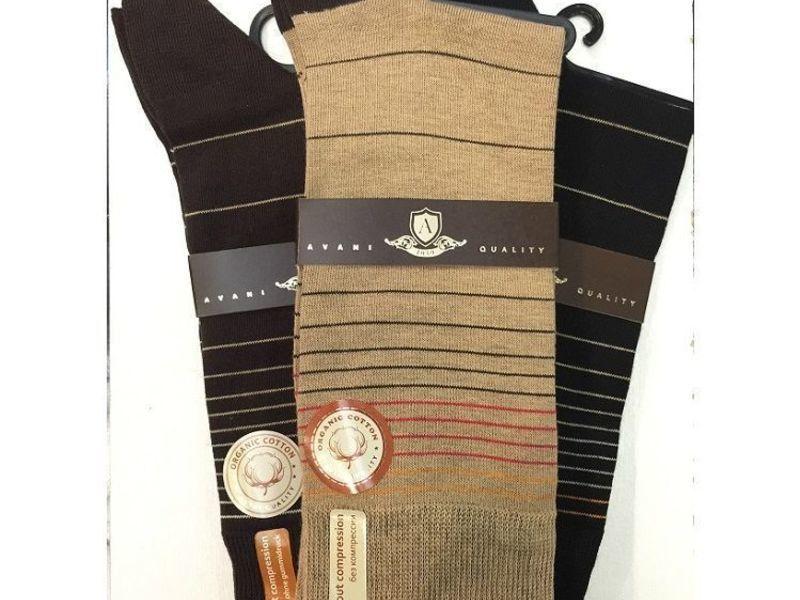 Мужские носки Avani 4К-185 черные Н_77