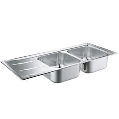 Мойка кухонная с двумя чашами Grohe K400 31587SD0 фото