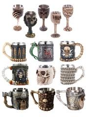 Ужасы декорация Бокал и Кружка с черепом в ассортименте