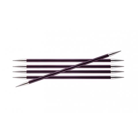 Спицы KnitPro Zing чулочные 6 мм/15 см 47013