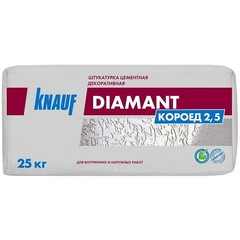 Цементная штукатурка декоративная Knauf Диамант Короед 2.5, 25 кг