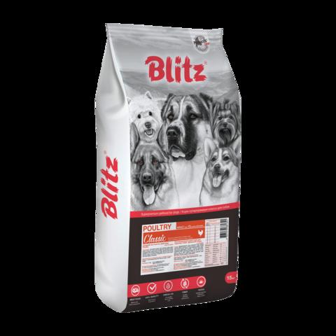 Blitz Adult Сухой корм для взрослых собак с Домашней птицей