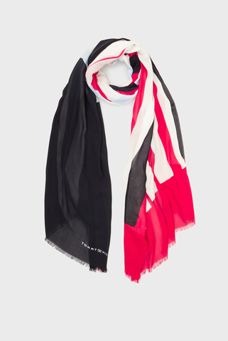 Женский шарф TOMMY STRIPE MIX SCARF Tommy Hilfiger