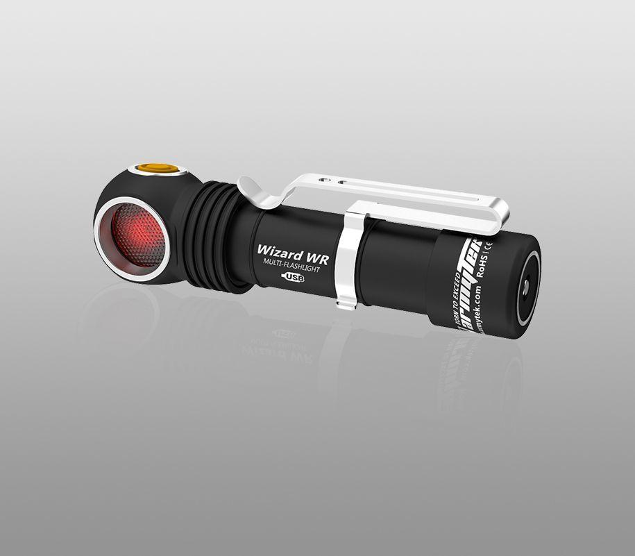 Мультифонарь Armytek Wizard WR Magnet USB (теплый-красный свет) - фото 5