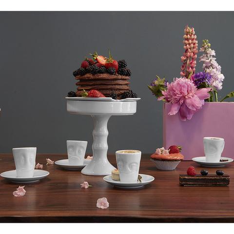 Кофейная чашка с блюдцем Tassen Impish 80 мл белая