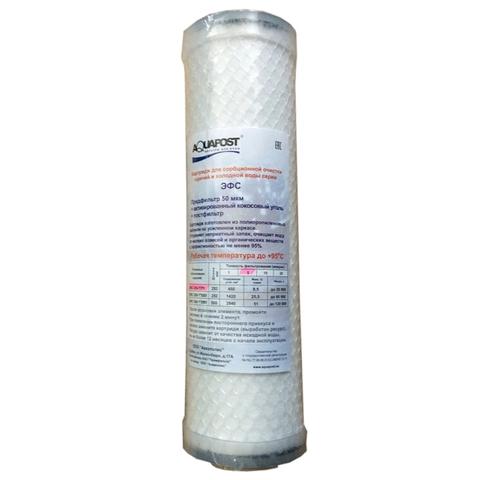 Фильтроэлемент ЭФС 250-5ГРУ SL10 Карбон-блок (предфильтр + актив. кокос. уголь + постфильтр) х/г воды
