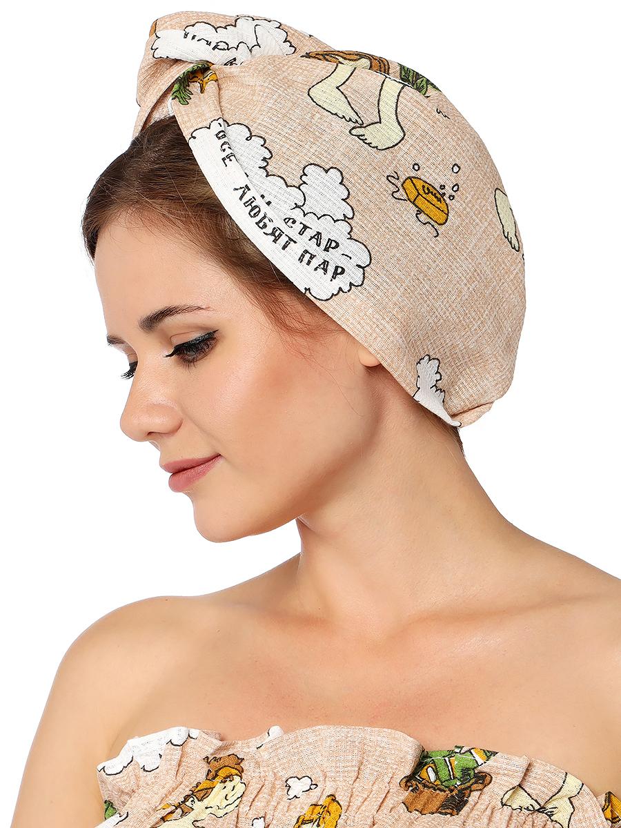 Чалма для волос из вафельной ткани