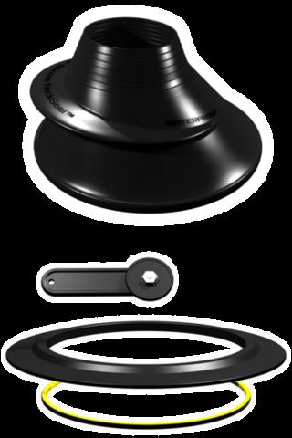 Комплект Waterproof для установки шейного обтюратора из силикона, черный