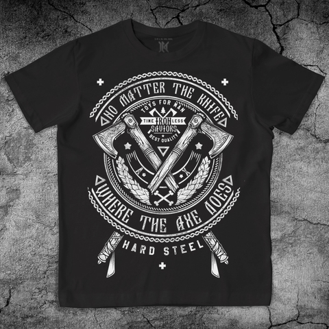 Купить хлопковую футболку Axes цвет черный для пауэрлифтинга, для зала, фитнеса, стиль жизни