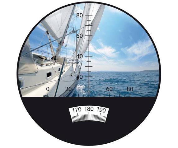 Встроенный компас монокуляра BGD 8x42 С