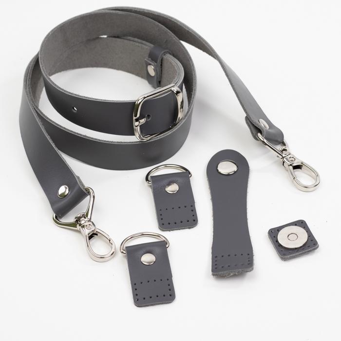 """Комплекты Комплект для сумки-ракушки """"Серый"""" с ручкой через плечо IMG_9290.jpg"""