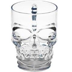 Пивная кружка Череп, 300 мл, стекло, фото 10