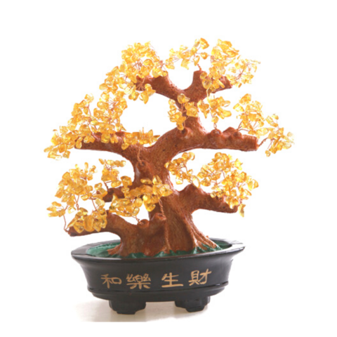 Денежное дерево с натур камнями (б)