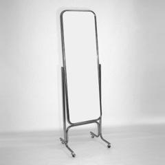 Зеркало напольное 5М-05К с изменением угла наклона на колесах 550х1800х550, хром