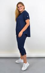 Ліліт. Жіночий костюм великого розміру на літо. Синій.