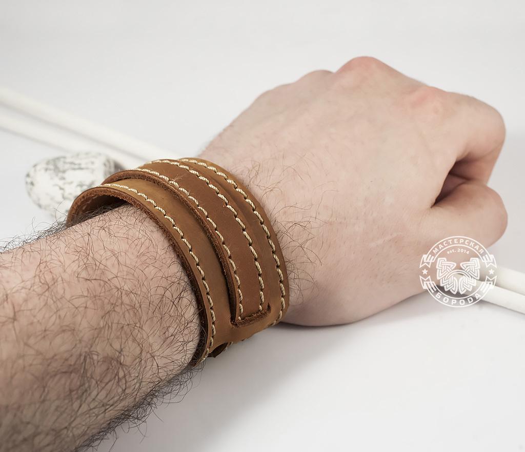 BL390-2 Браслет ручной работы из мягкой натуральной кожи. «Boroda Design» фото 09