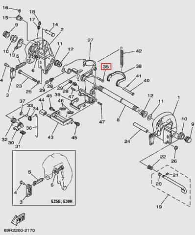 Вал для лодочного мотора Т30 Sea-PRO (14-35)