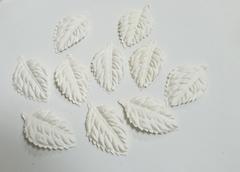 Лист розы из бумаги, 4,5*2,7 см, 10 штук.