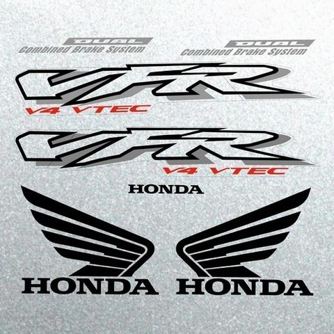 Набор наклеек на мотоцикл HONDA VFR 800I 2002 (СЕРЕБРЯНАЯ ВЕРСИЯ)