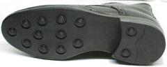 Утепленные ботинки  под брюки мужские LucianoBelliniBC3801L-Black .